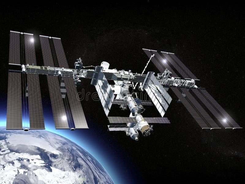station för internationellt avstånd nasa royaltyfri illustrationer