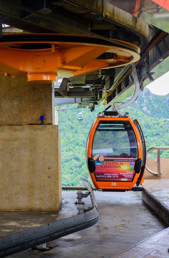 Station för kabelbil royaltyfria foton