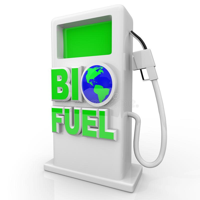 station för pump för biobränslegasgreen vektor illustrationer