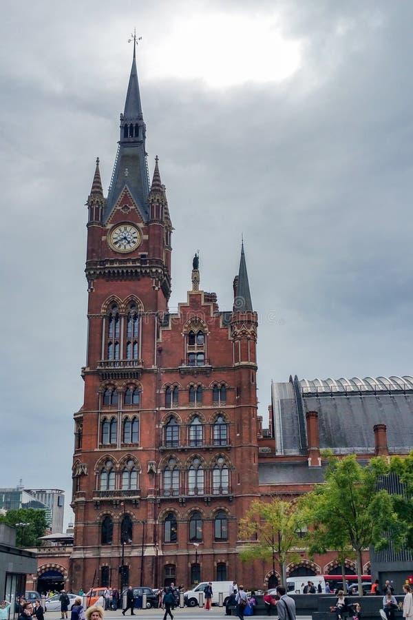 Station för St Pancras royaltyfria bilder