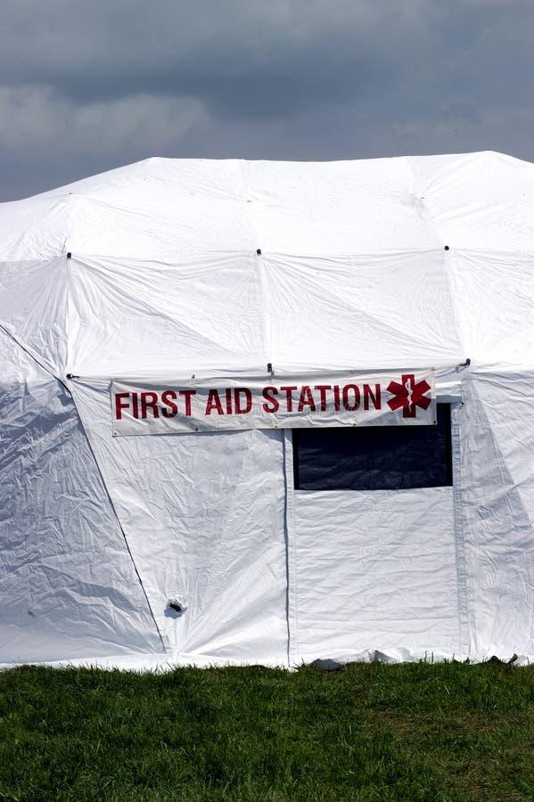 Station für erste Hilfe stockfotos