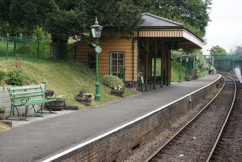 Station ferroviaire de Ropley de mi vapeur de Hants photo libre de droits