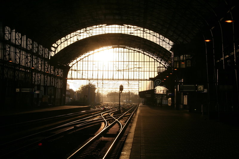 Station in Haarlem royalty-vrije stock fotografie