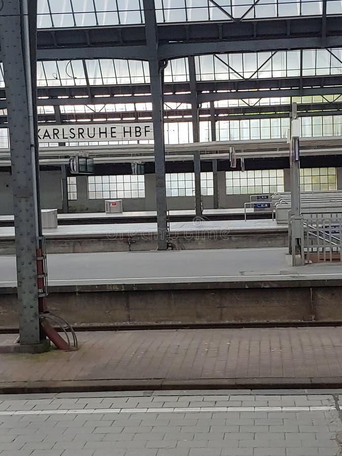 Station hall Karlsruhe Hbf stock photography