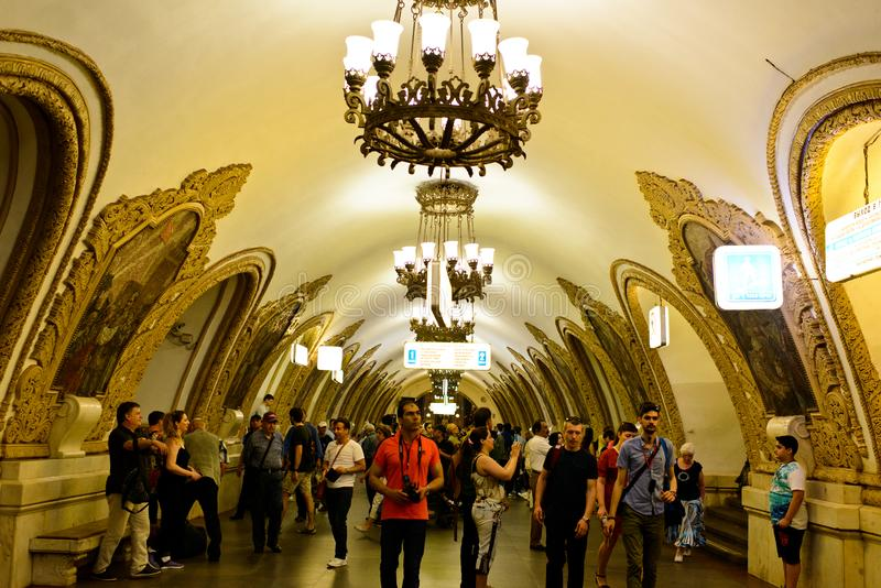 The metro of Moscow stock photography