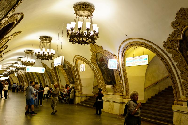 The metro of Moscow royalty free stock images