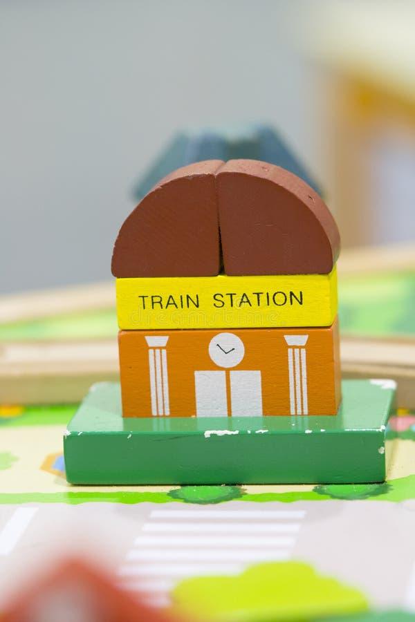 Station het Houten van het de Tekensspel van Toy Set en van de Straat vastgestelde Onderwijs stock foto's