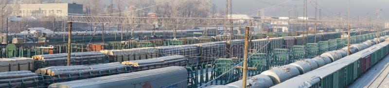 Station Irkoetsk stock afbeelding