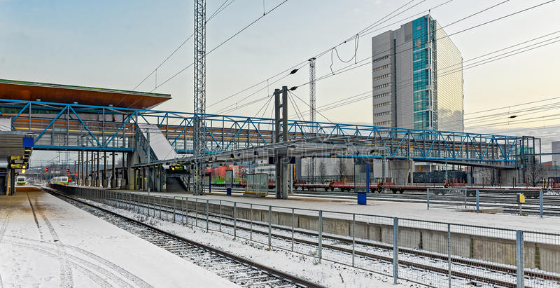 Station in Jyvaskyla, Finland stock afbeelding