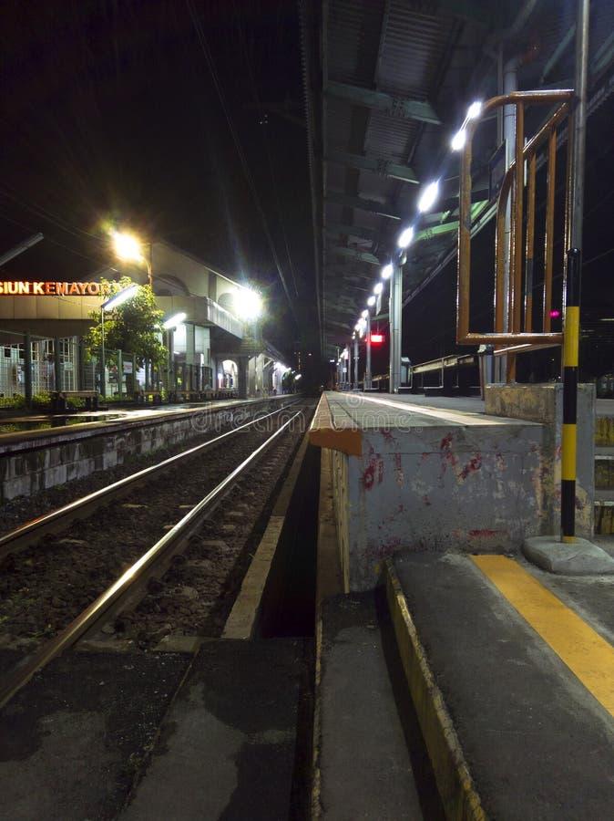 Station Kemayoran Djakarta stock afbeeldingen