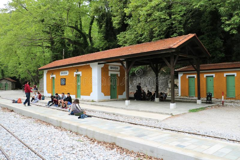 Station in Milies, Griekenland royalty-vrije stock foto's