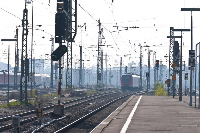 Station In Morning-dust Royalty Free Stock Photography