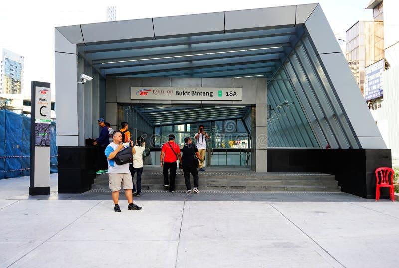 Station MRT Bukit Bintang lizenzfreie stockfotos
