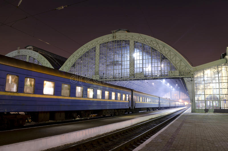 Download Station at night stock image. Image of tourism, electricity - 26796433