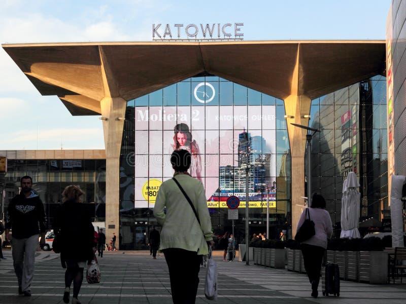 Station principale de Katowice photographie stock