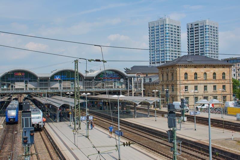 Station principale ? Mayence, Allemagne photos libres de droits