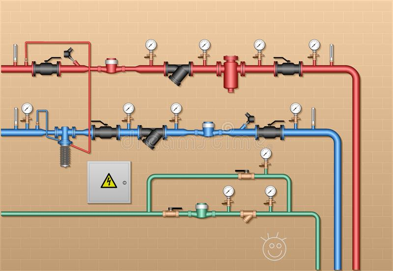 Station régulatrice d'énergie de Thremal image stock