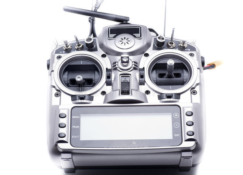 Station radio control. A station for model aircraft, to operate a drone, helicopter, plane stock image