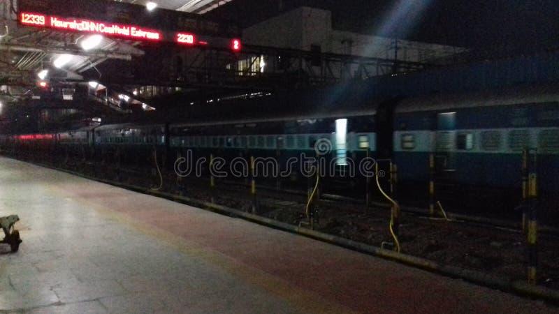 Station raiway de dhanbad d'Inde photographie stock libre de droits