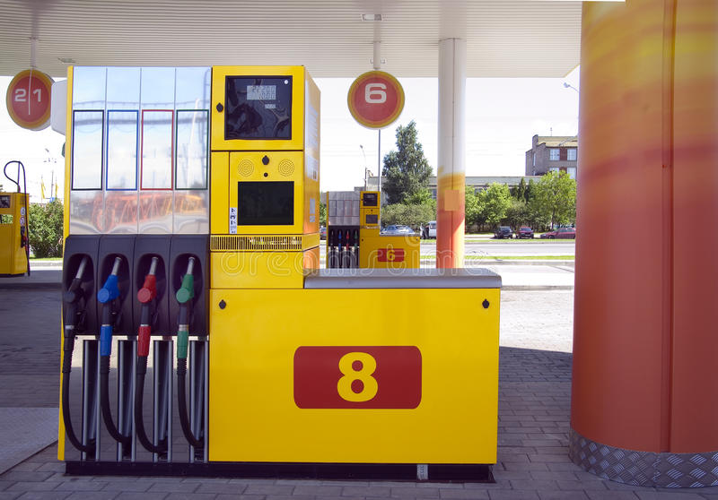 Station For Refuelling Royalty Free Stock Photos