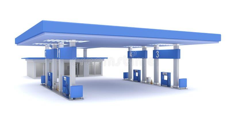 Station service illustration stock