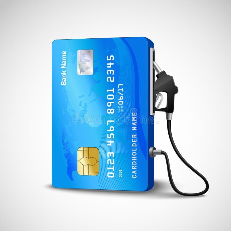 Station service de carte de crédit illustration libre de droits