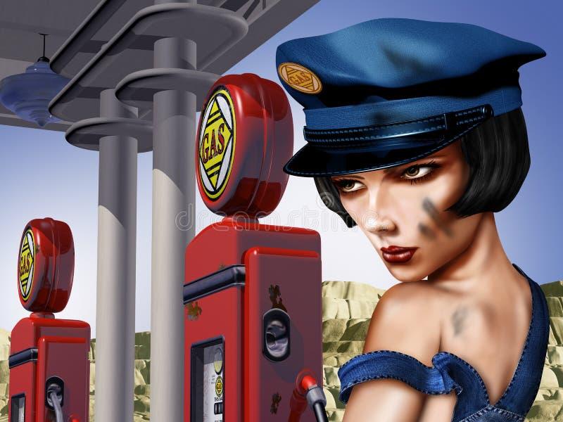 Station service de cru illustration stock