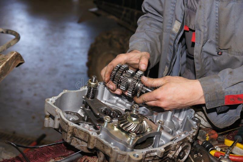 Station service de réparation de moteur photo stock