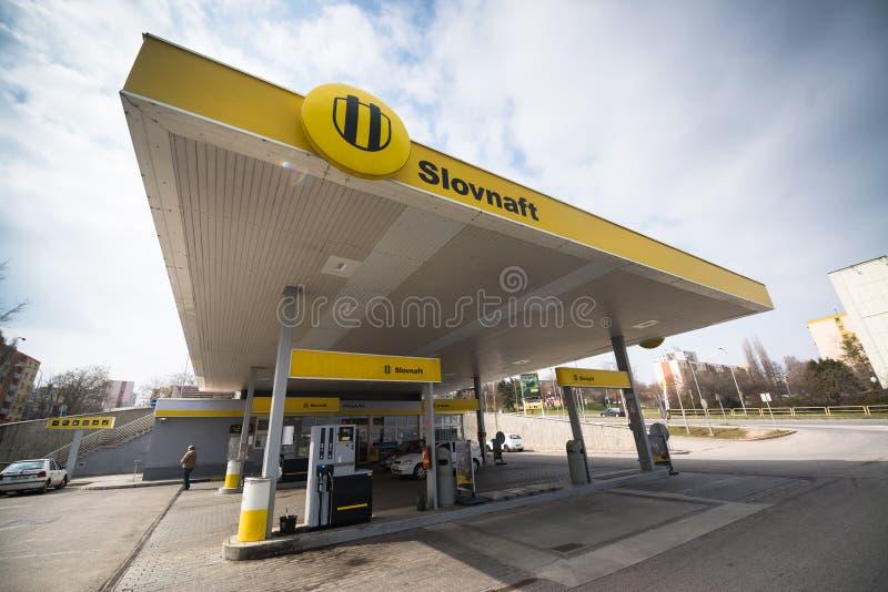 Station service de Slovnaft photographie stock libre de droits
