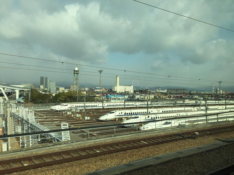 The station of Shinkansen maintenances. royalty free stock photos