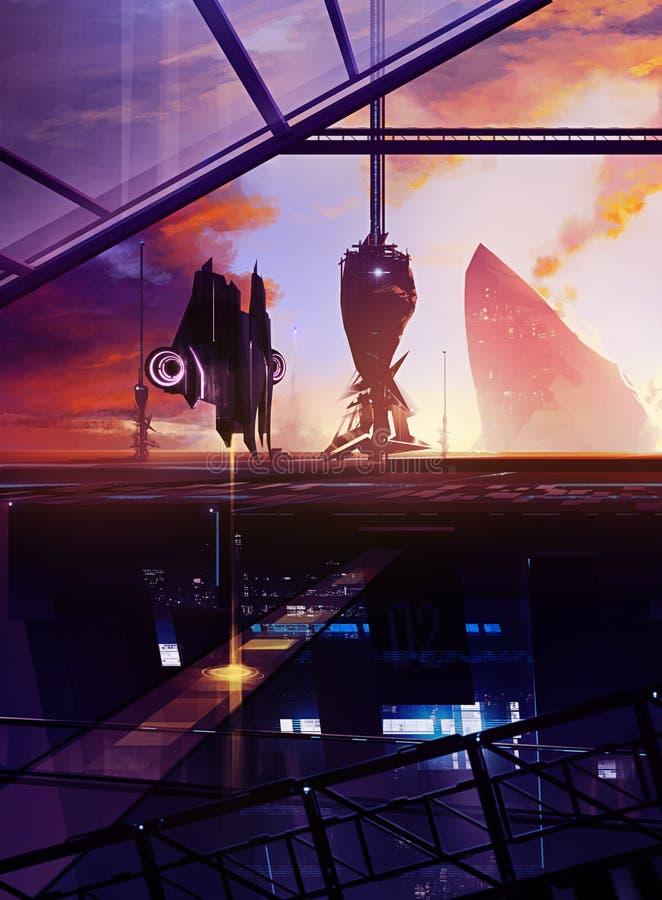 Station spatiale illustration libre de droits