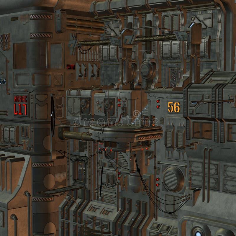 Station spatiale illustration de vecteur