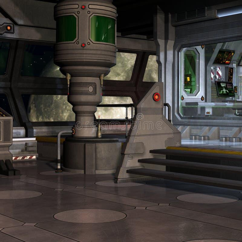 station spatiale intérieure illustration stock