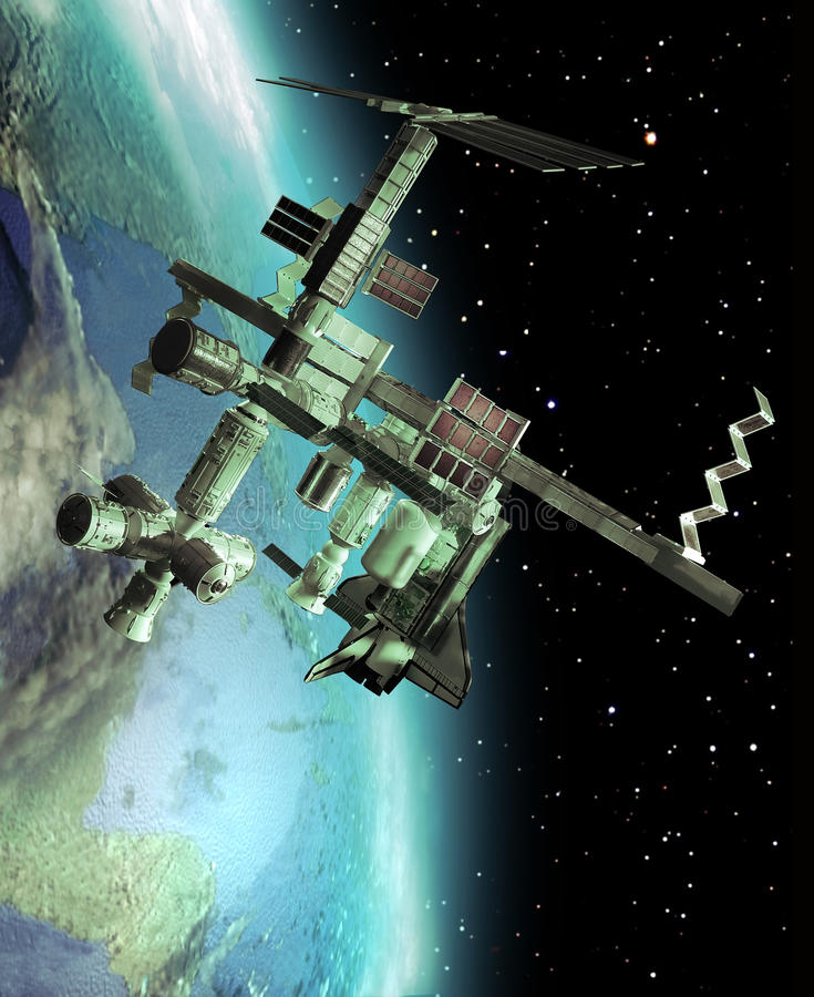 Station Spatiale Internationale illustration de vecteur