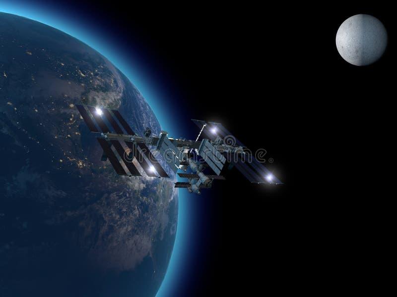 Station Spatiale Internationale illustration de vecteur
