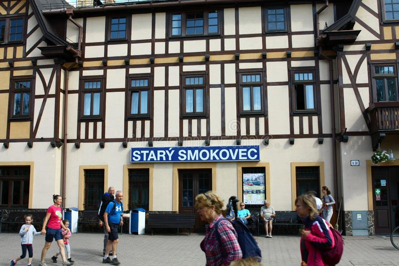 Station Stary Smokovec stock images