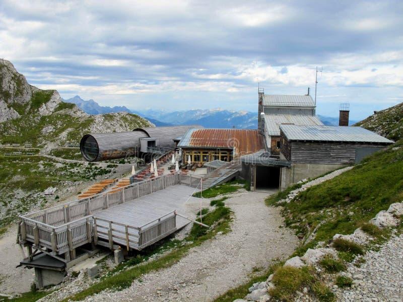 Station supérieure sur Karwendel image libre de droits