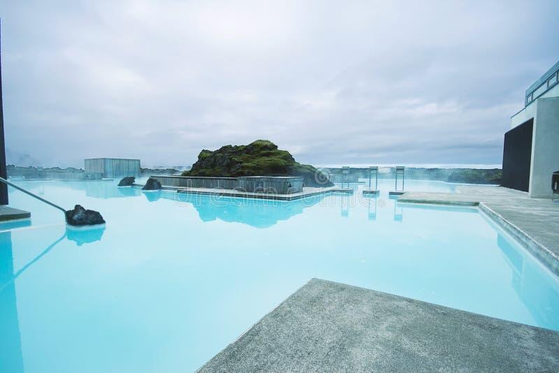 Station thermale bleue de lagune, Islande image stock