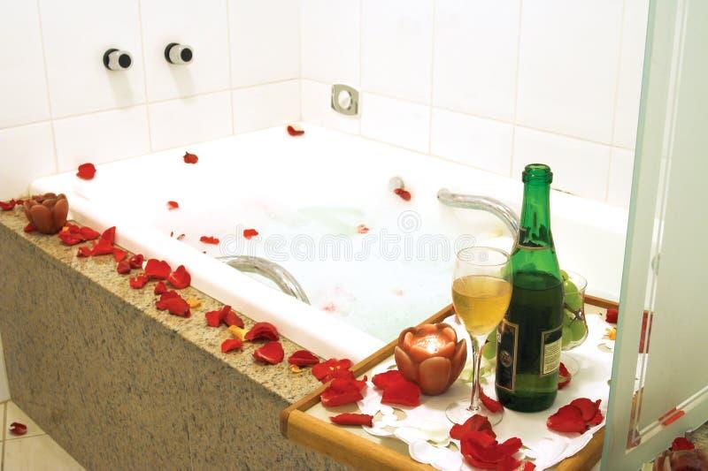 Station thermale de baignoire photos stock