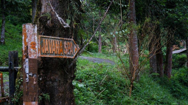 Station thermale de Javana photo libre de droits