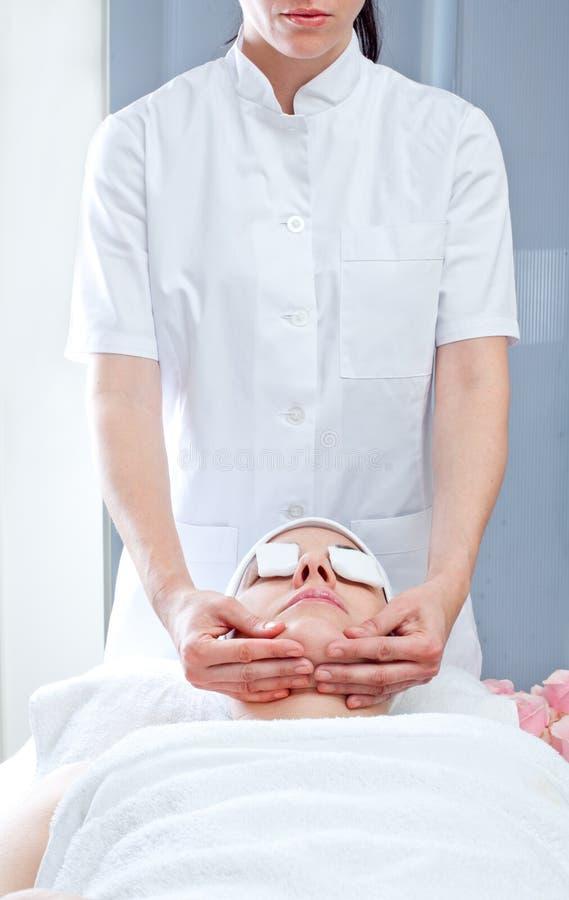 Station thermale de massage photo stock