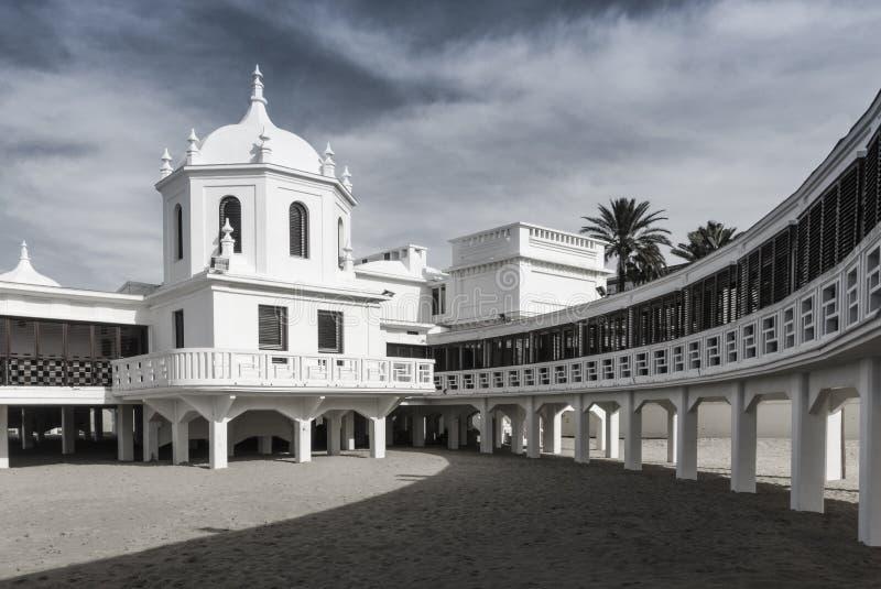 Station thermale du Caleta - Cadix - l'Espagne photo stock