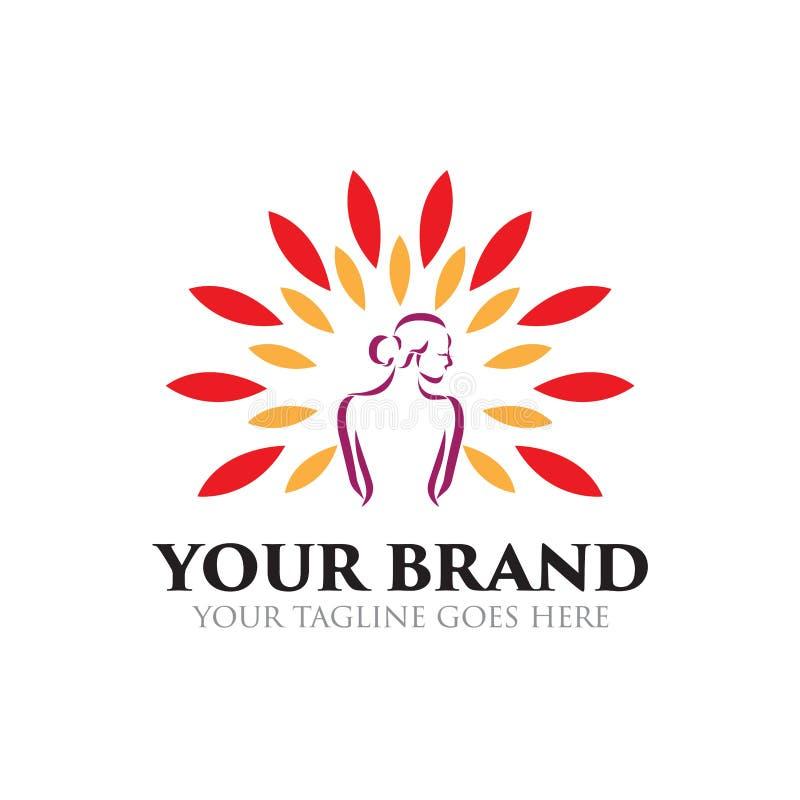 Station thermale et logo de beauté - vecteur illustration libre de droits