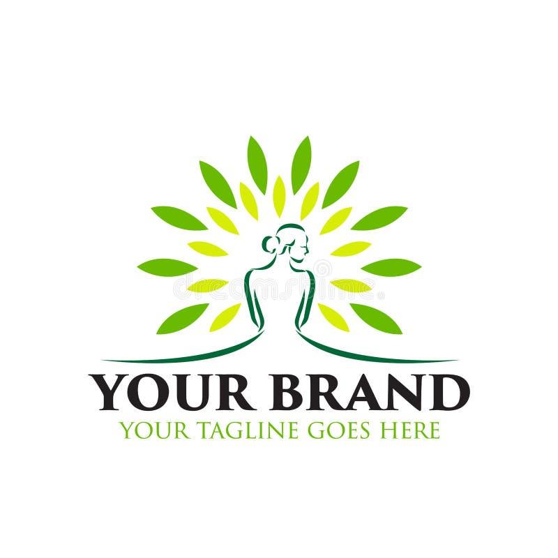 Station thermale et logo de beauté - vecteur illustration stock