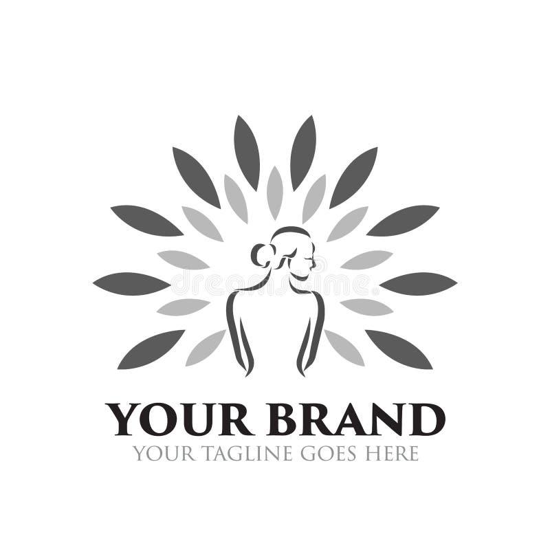Station thermale et logo de beauté - vecteur illustration de vecteur