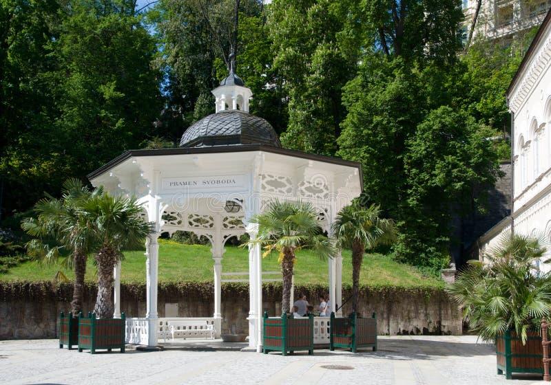 Station thermale Karlovy Vary, République Tchèque image stock