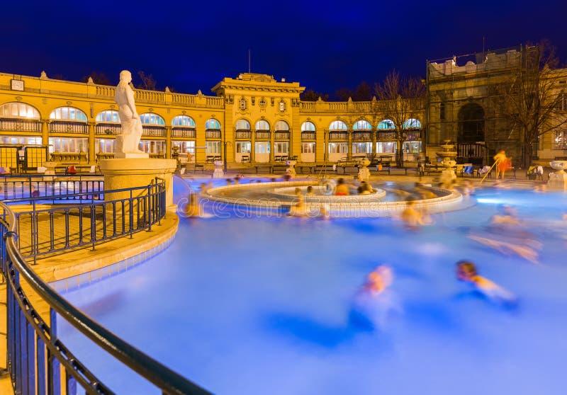 Station thermale thermique de bain de Szechnyi à Budapest Hongrie photos libres de droits