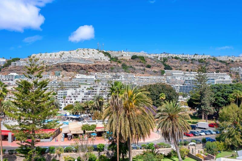 Station touristique côtière Porto Rico Gran Canaria, Espagne photos libres de droits