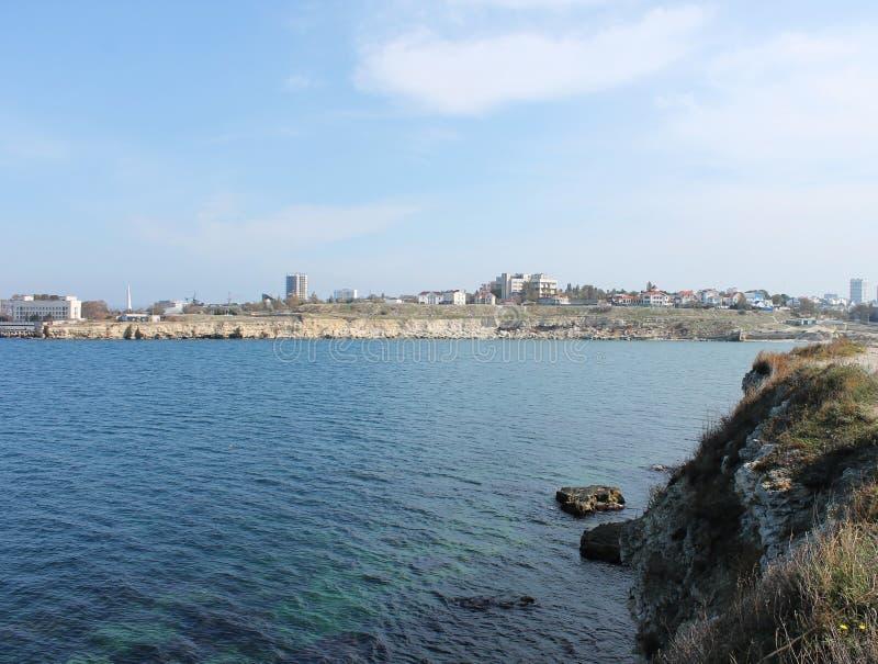 Station touristique, mer et côte de la Crimée images stock