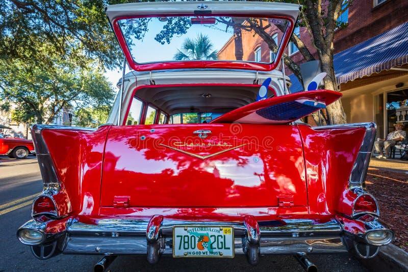 Station wagon 1957 di Chevrolet BelAir fotografia stock